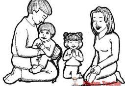 Değerler Eğitimi Aile Sevgisi Boyama Sayfaları