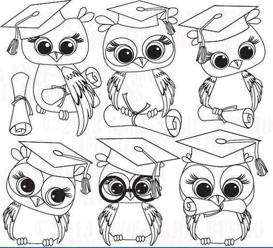 mezuniyet boyama sayfası baykuş