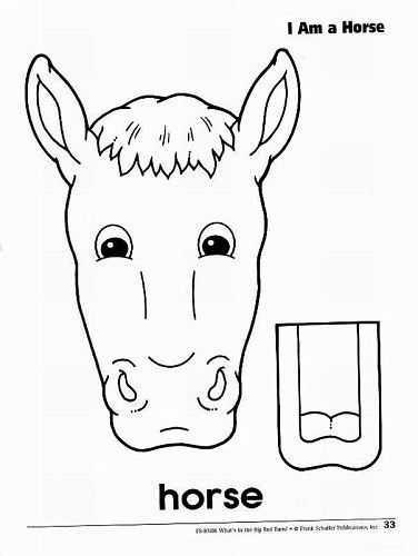kesme yapıştırma at kukla etkinliği