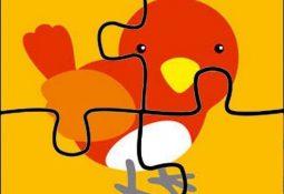3 Yaş Çocukları İçin Renkli Puzzle Kalıpları