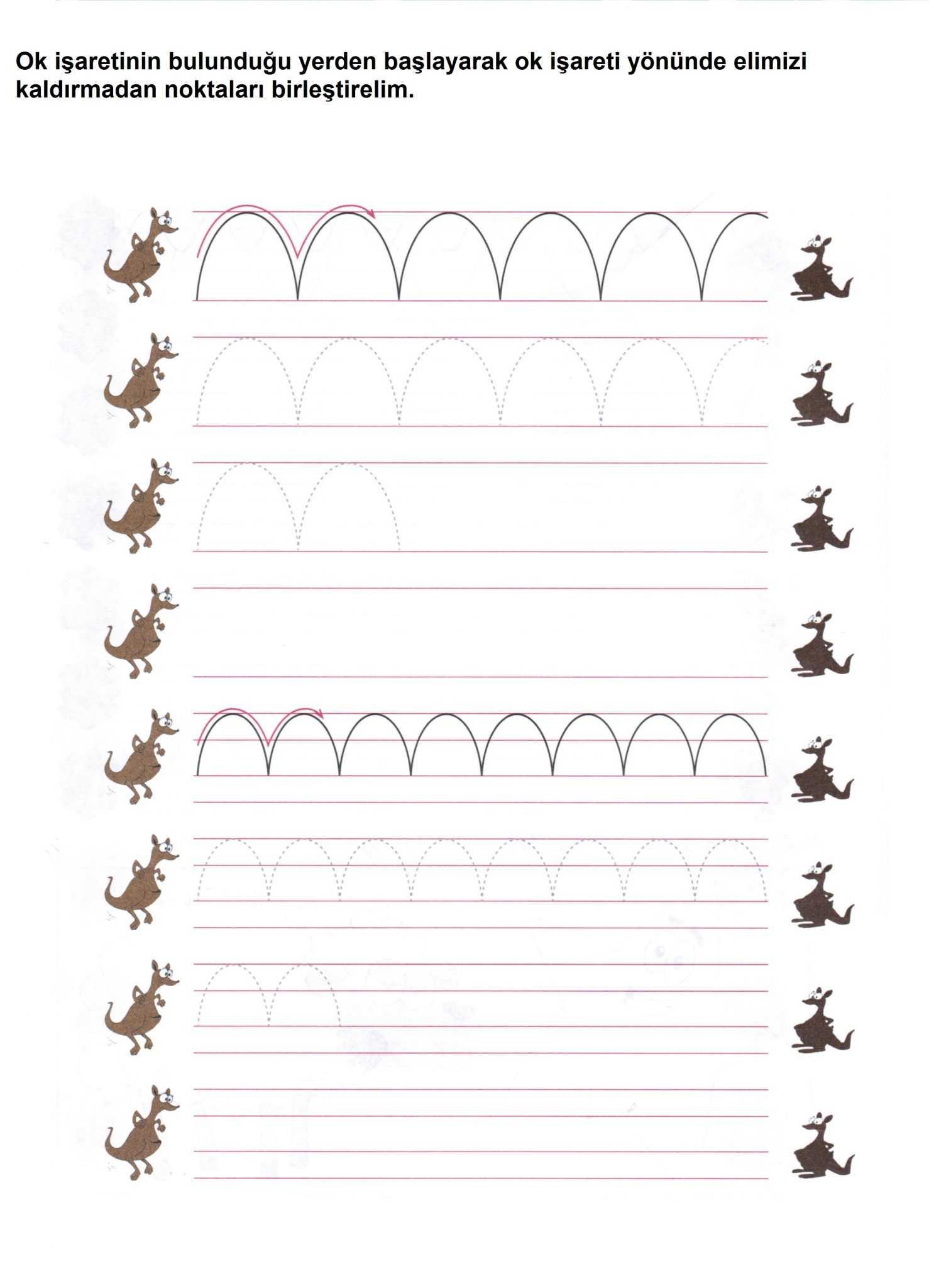 İlkokula Hazırlık Çizgi Çalışmaları