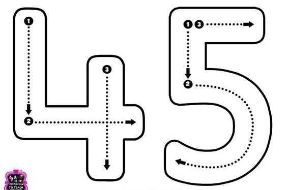 Okul Öncesi 4 Rakamı İle İlgili Çizgi Çalışma Sayfaları