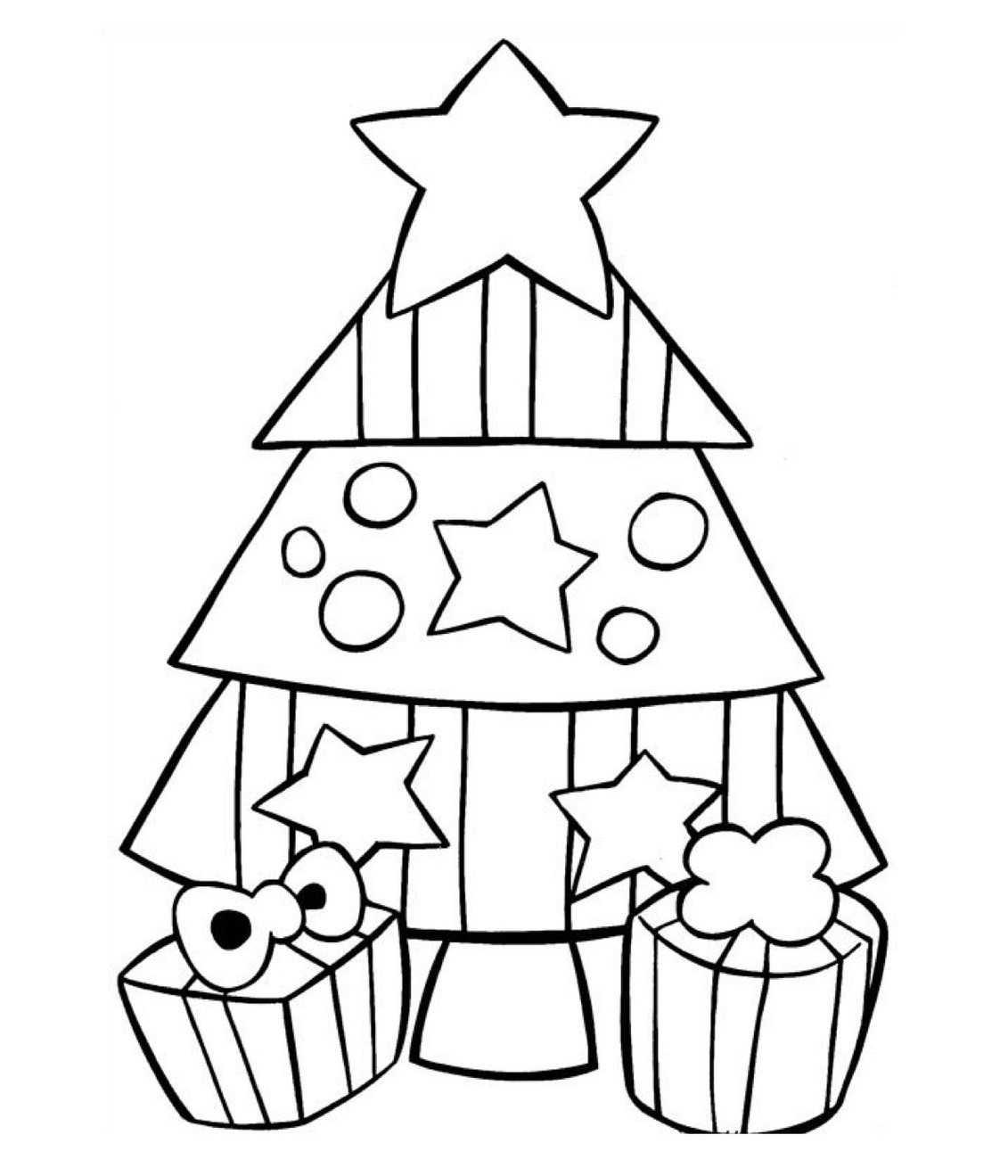 Süslenmiş Yeni Yıl Ağaçları Boyama Sayfaları