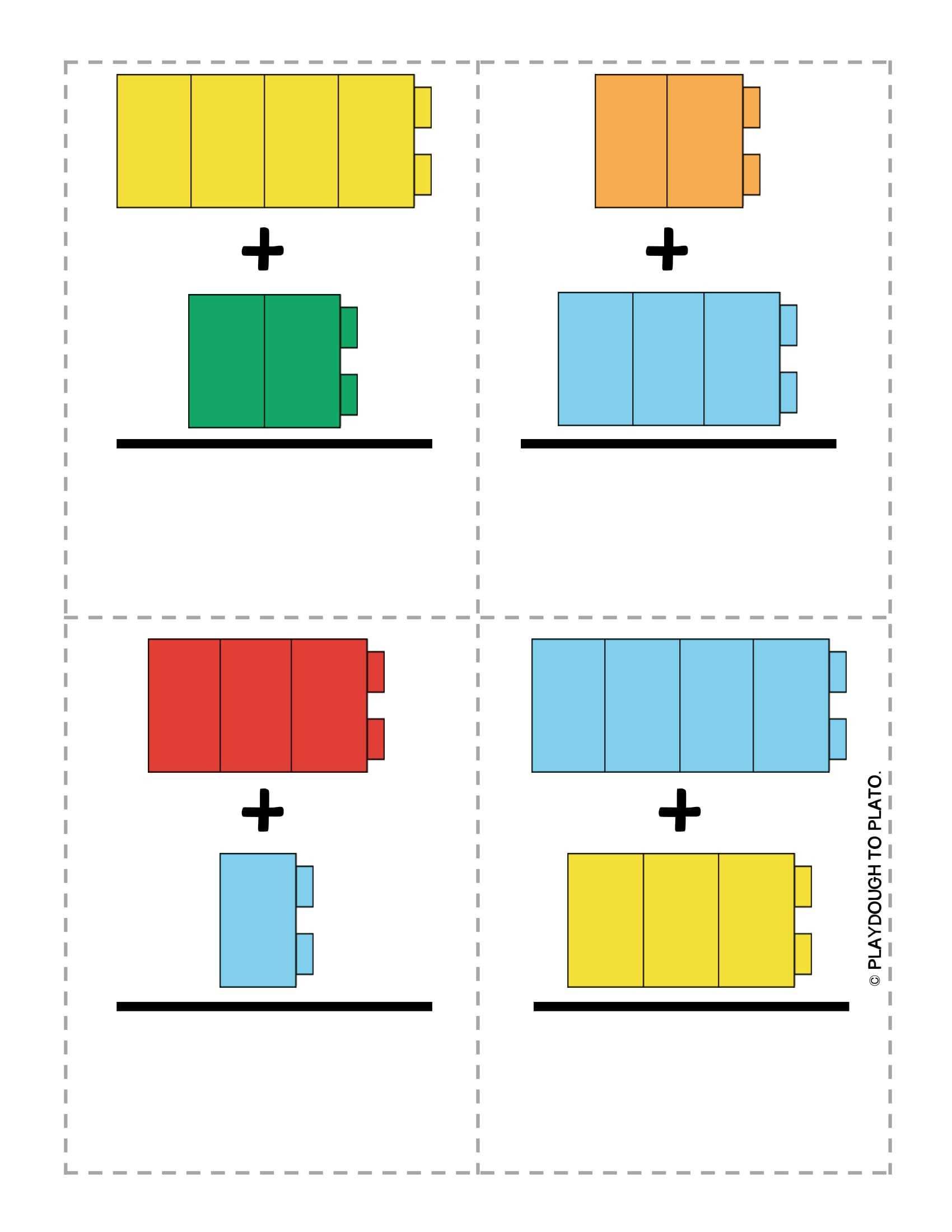 Okul Öncesi Legolarla Resimli Toplama İşlemi