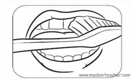 Diş Sağlığı Boyama Sayfası Okul öncesi Etkinlik Faliyetleri