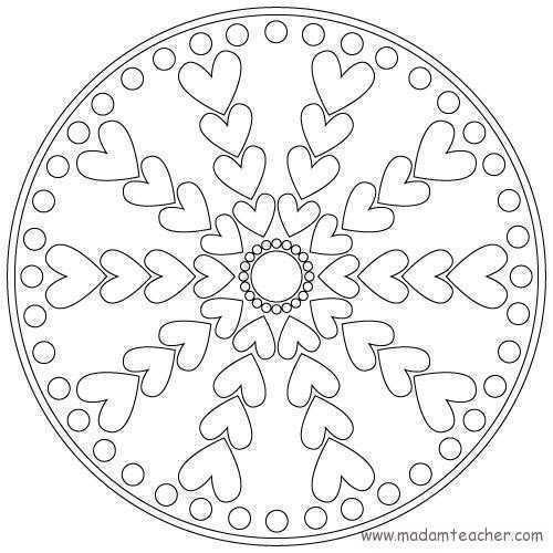 Mandala 13 on valentines