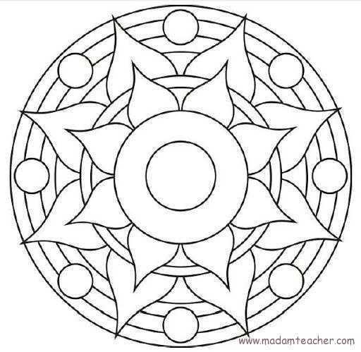 Mandala 2 Okul Oncesi Etkinlik Faliyetleri Madamteacher Com