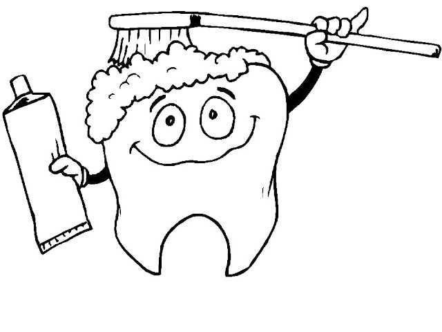 Diş Sağlığı Haftası Için Boyama Sayfaları Okul öncesi Etkinlik