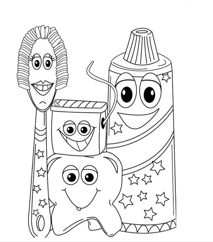 Dis Sagligi Boyama Sayfalari 3 Okul öncesi Etkinlik Faliyetleri