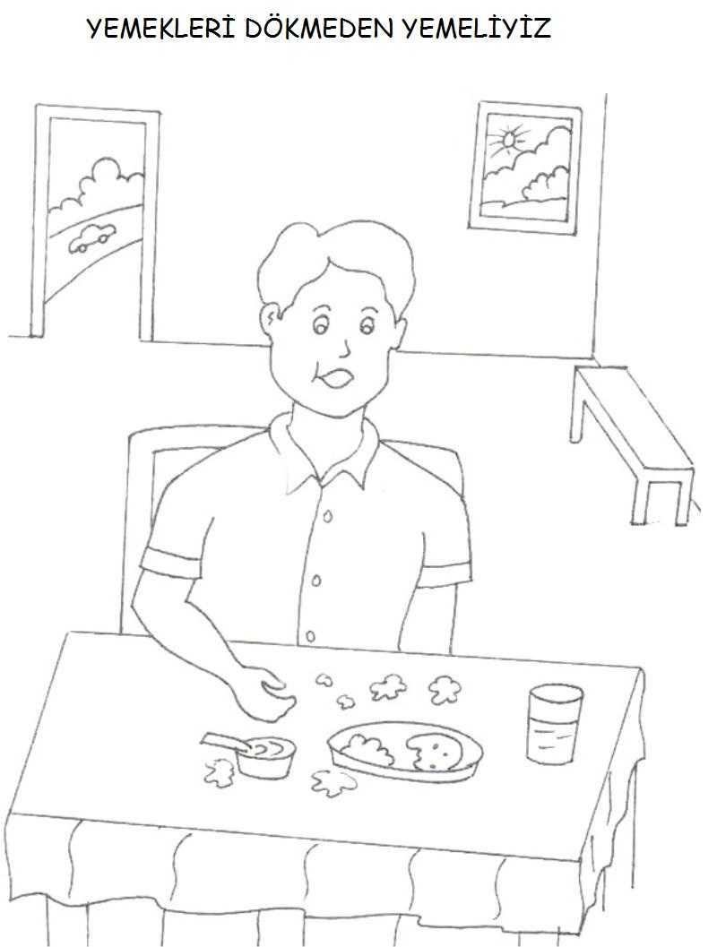 Kurallar Boyama Sayfası 10 Okul öncesi Etkinlik Faliyetleri