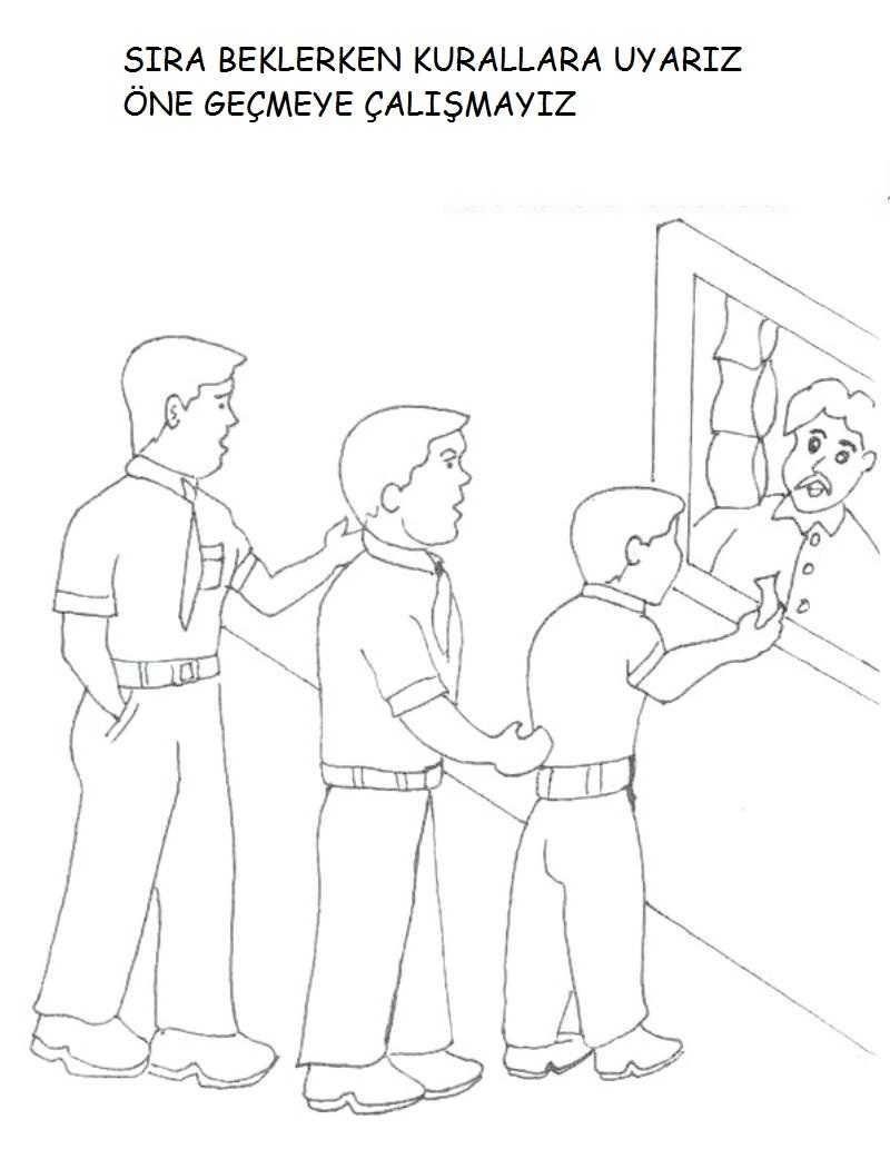 Görgü Kuralları Boyama Sayfaları Okul öncesi Etkinlik Faliyetleri