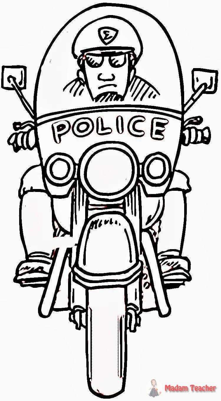 Polis Haftasi Boyamalari Okul Oncesi Etkinlik Faliyetleri