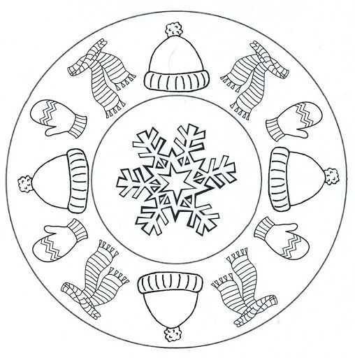 Kış Mevsimi Mandala 13 Okul öncesi Etkinlik Faliyetleri