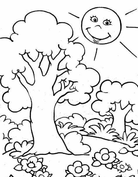 Orman Haftası Için Boyama Sayfaları Okul öncesi Etkinlik