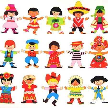 Farklı ülke çocukları Boyama Okul öncesi Etkinlik Faliyetleri