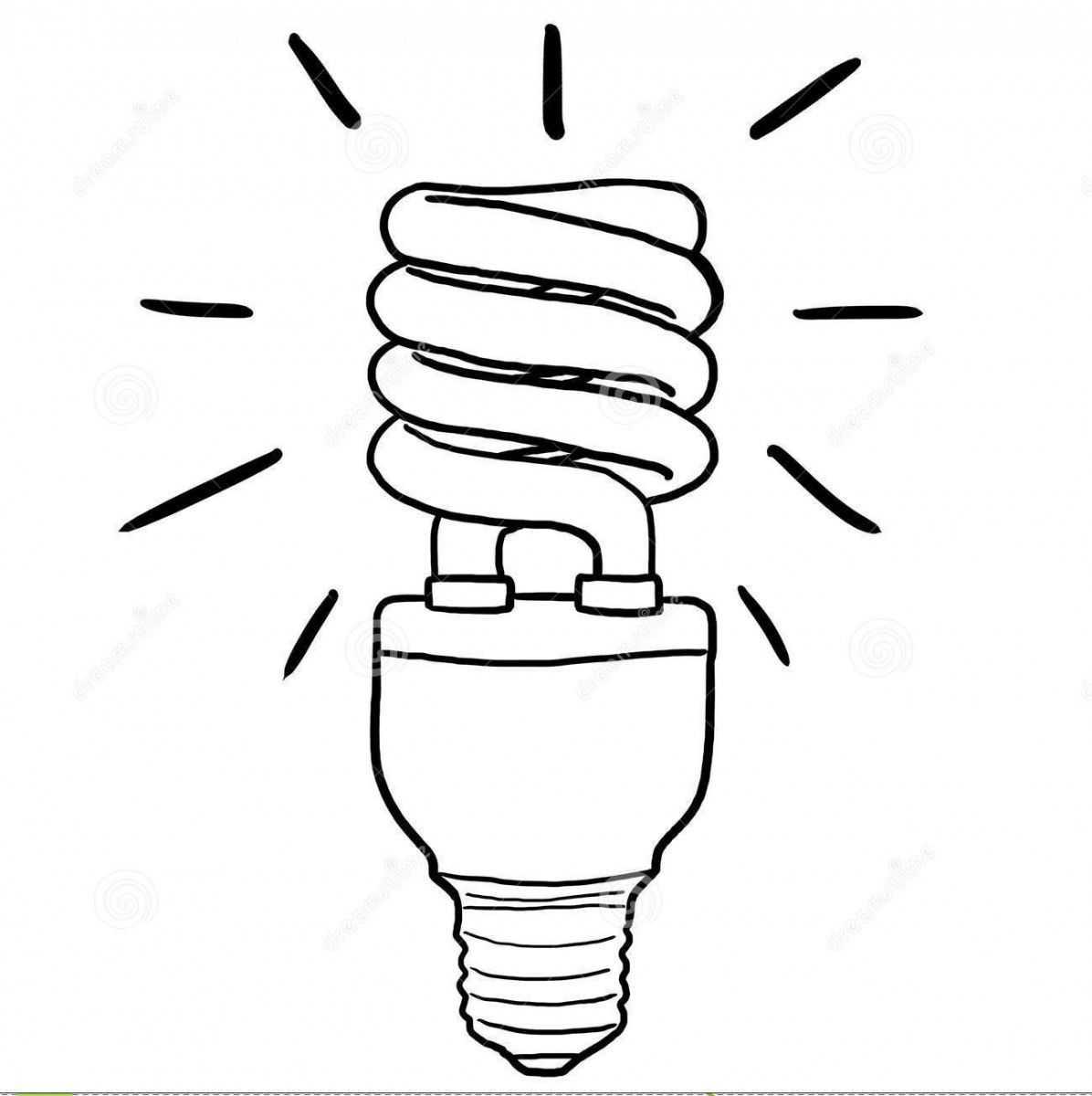 Enerji Tasarrufu Haftası Için Ampul Boyama Sayfaları 3 Okul
