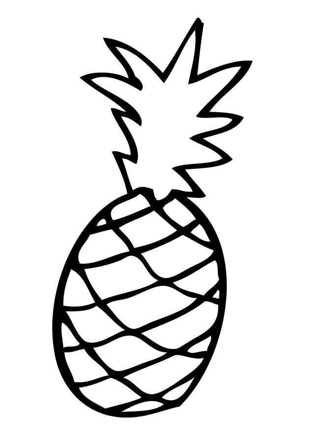 Ananas Boyama Sayfasi 1 Okul öncesi Etkinlik Faliyetleri