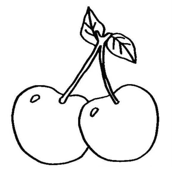 Kiraz Meyveleri 5 Cocuklar Icin Yazdirilabilir Boyama Sayfalari