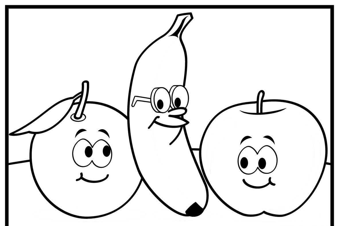 Meyveler Boyama Sayfalari Okul Oncesi Etkinlik Faliyetleri