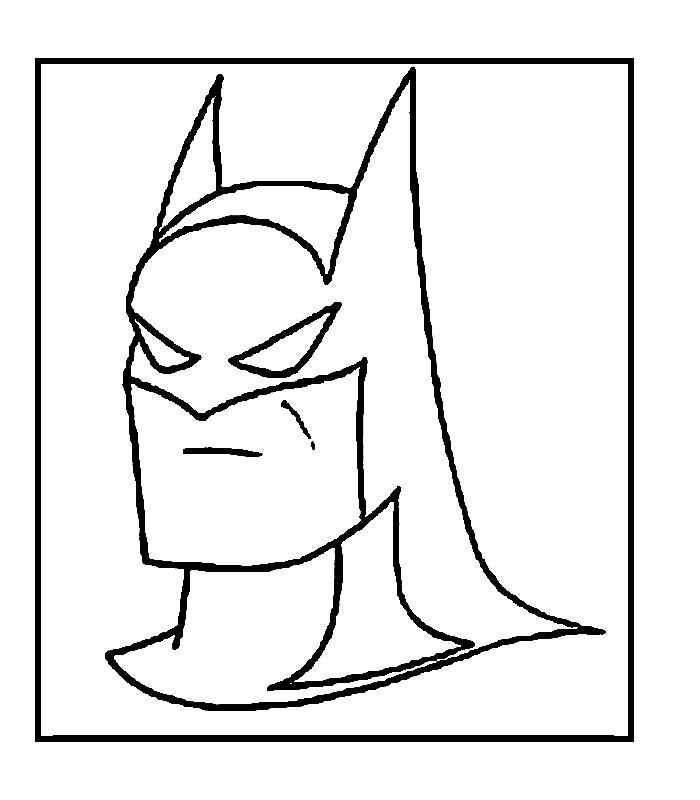 Batman çizgi Film Boyama Sayfaları Okul öncesi Etkinlik