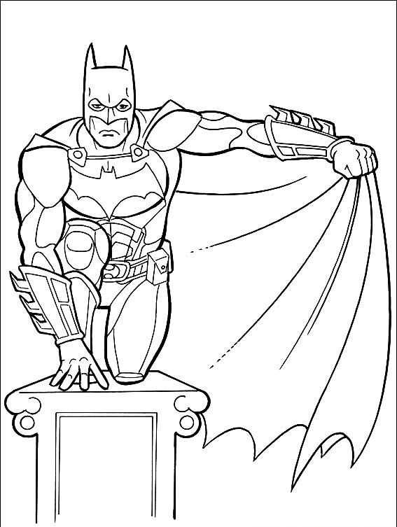 Boyama Sayfasy Batman Boyama Sayfasi
