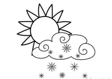 Hava Durumu Boyama Sayfalari 17 Okul öncesi Etkinlik Faliyetleri