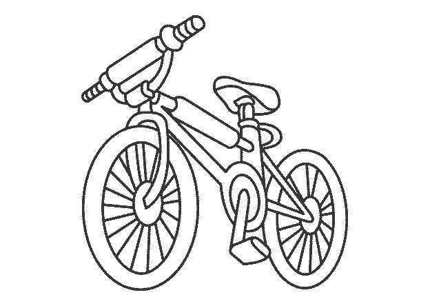 Okul öncesi Bisiklet Boyama Sayfası Okul öncesi Etkinlik