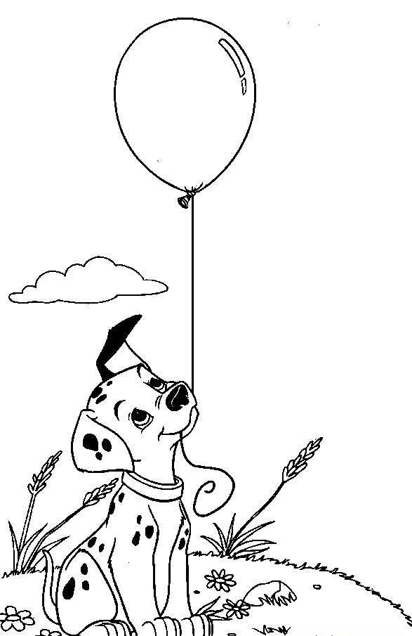 Pre School Dalmatian Dog Coloring Page Preschool Children