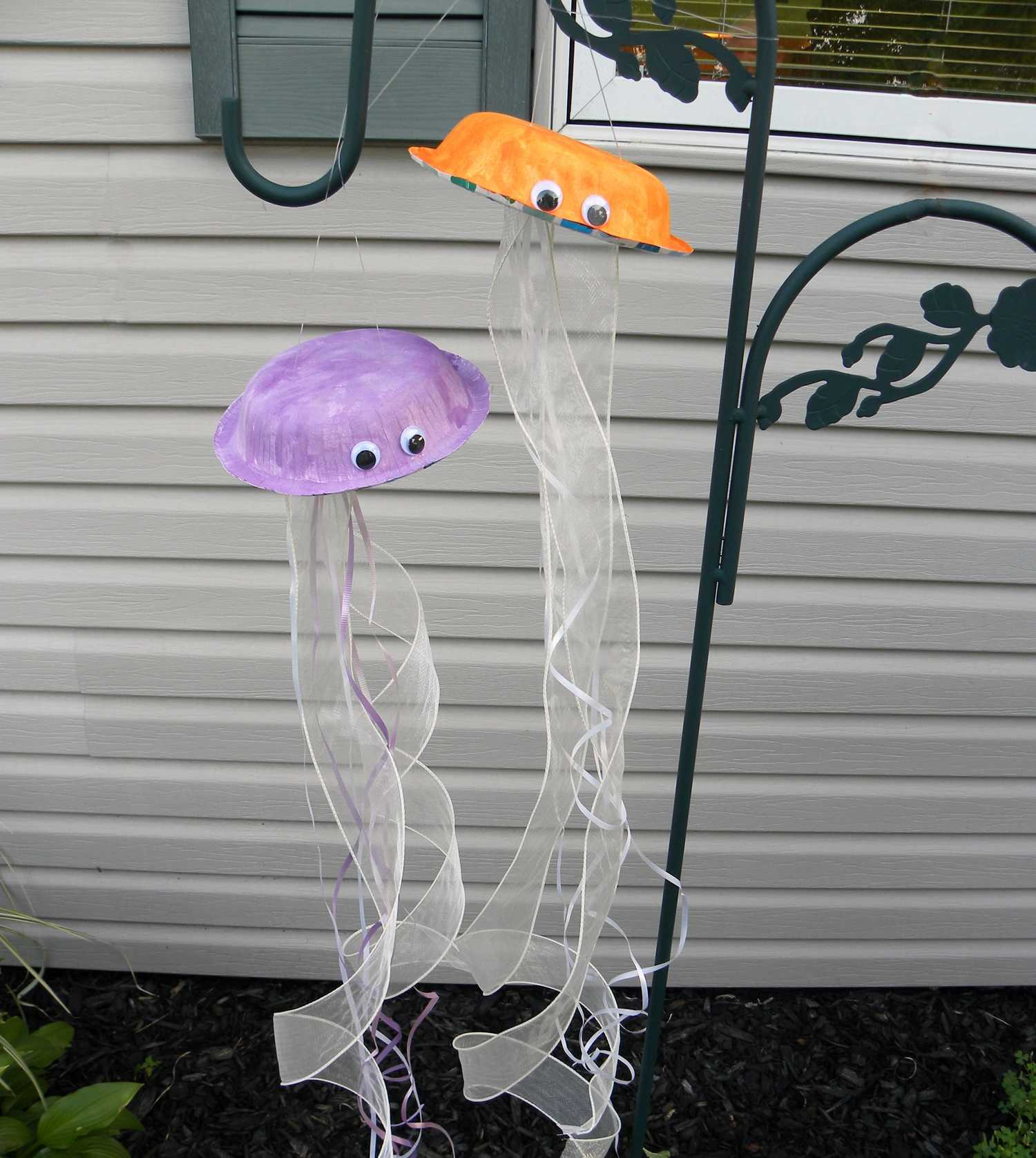 Foam Platter Jellyfish Activity Preschool Children Akctivitiys