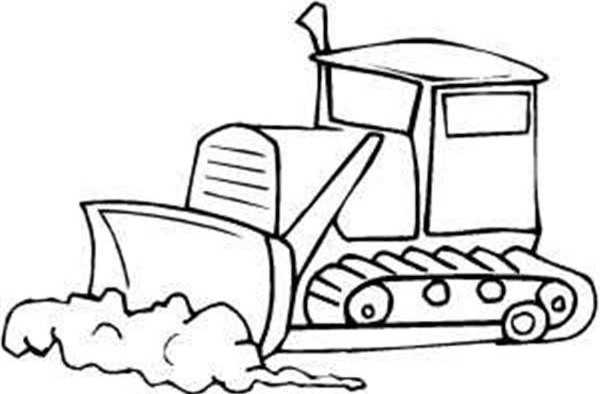 Preschool Dozer Coloring Page Preschool Children Akctivitiys