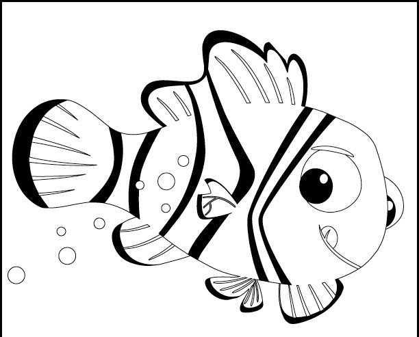 Kayıp Balık Nemo Boyama Sayfası Okul öncesi Etkinlik Faliyetleri