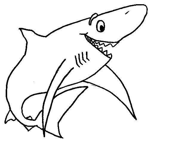 Preschool Shark Coloring Page Preschool Children Akctivitiys