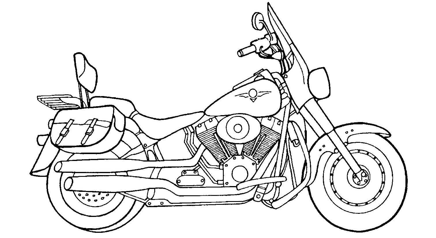 Pre School Motorcycle Coloring Pages Preschool Children Akctivitiys