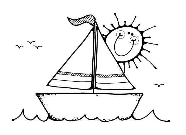 Tekne Boyama Sayfası Okul öncesi Etkinlik Faliyetleri
