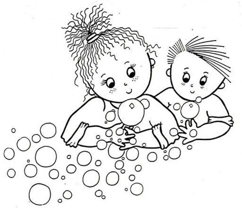 Hand Cleaning Coloring Page Preschool Children Akctivitiys