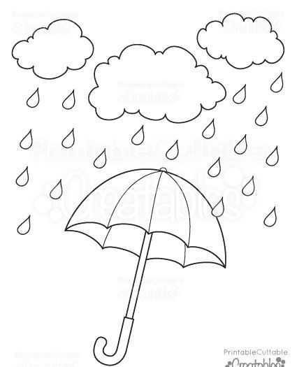 Okul öncesi şemsiye Boyama Sayfaları Okul öncesi Etkinlik