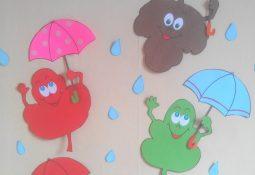Anasınıfı Sonbahar Duvar Süsü Kalıplı