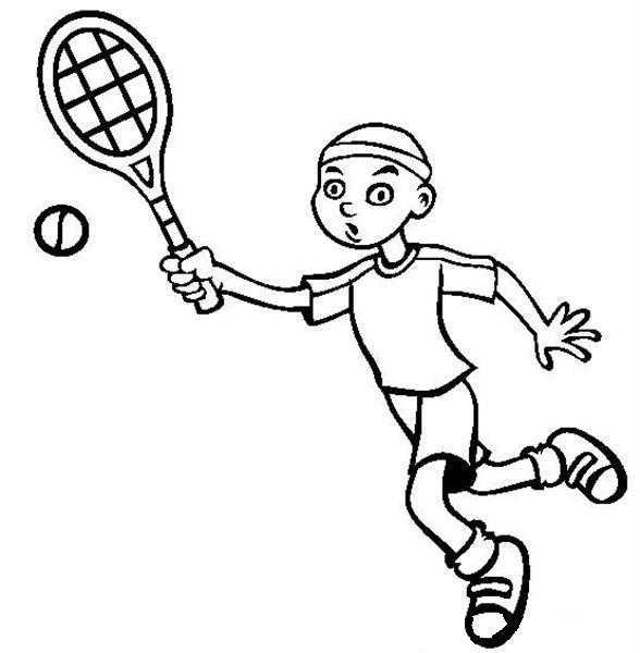 Okul öncesi Tenis Boyama Sayfası Okul öncesi Etkinlik Faliyetleri