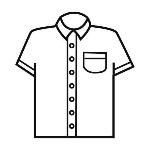 Okul öncesi Gömlek T Shirt Boyama Sayfası Okul öncesi Etkinlik