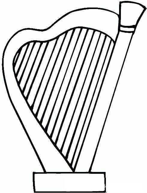 Arp Muzik Aleti Boyama Sayfasi 5 Okul Oncesi Etkinlik