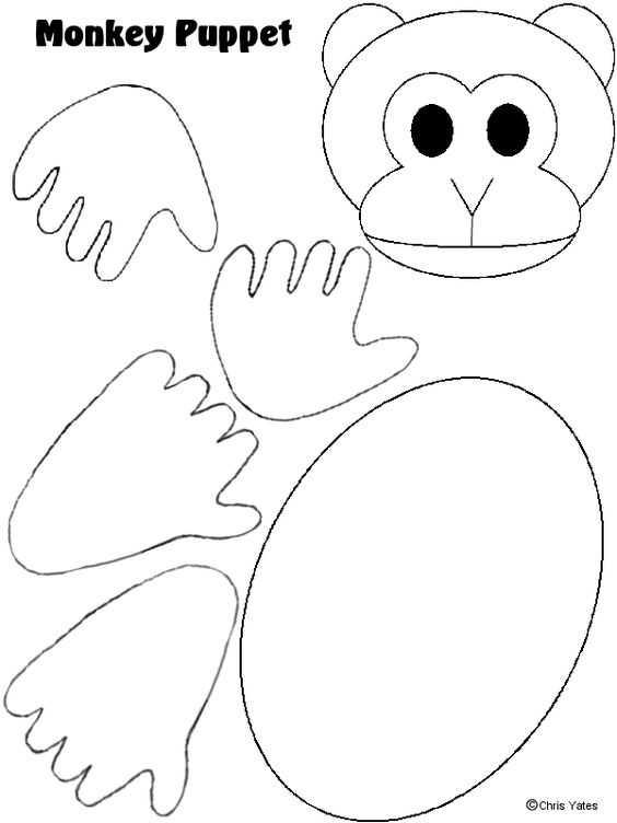 Kesme Yapıştırma Maymun Etkinlikleri Okul öncesi Etkinlik