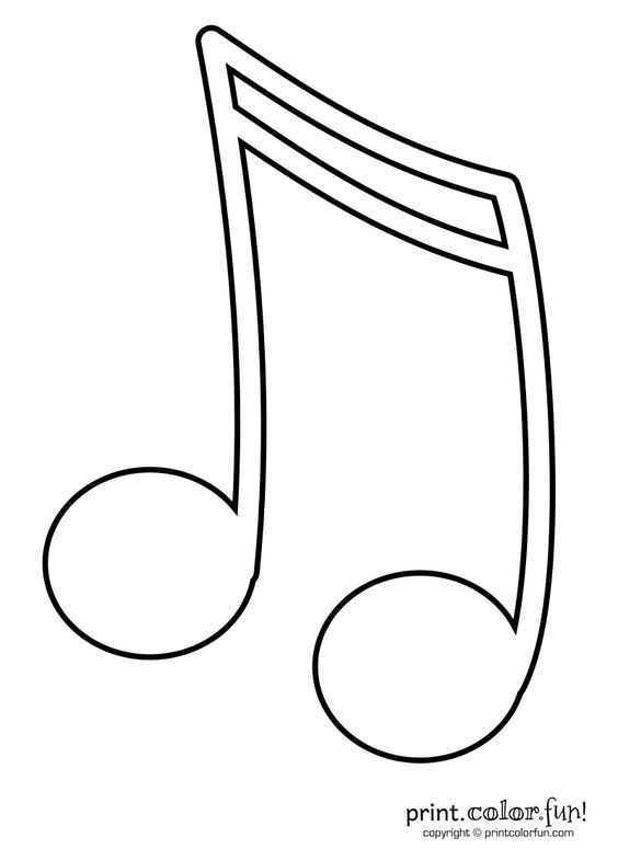 Muzik Notalari Boyama Sayfasi 10 Okul öncesi Etkinlik