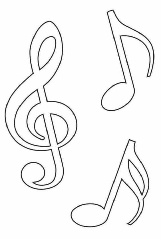 Okul öncesi Müzik Notası Boyama Sayfaları Okul öncesi Etkinlik