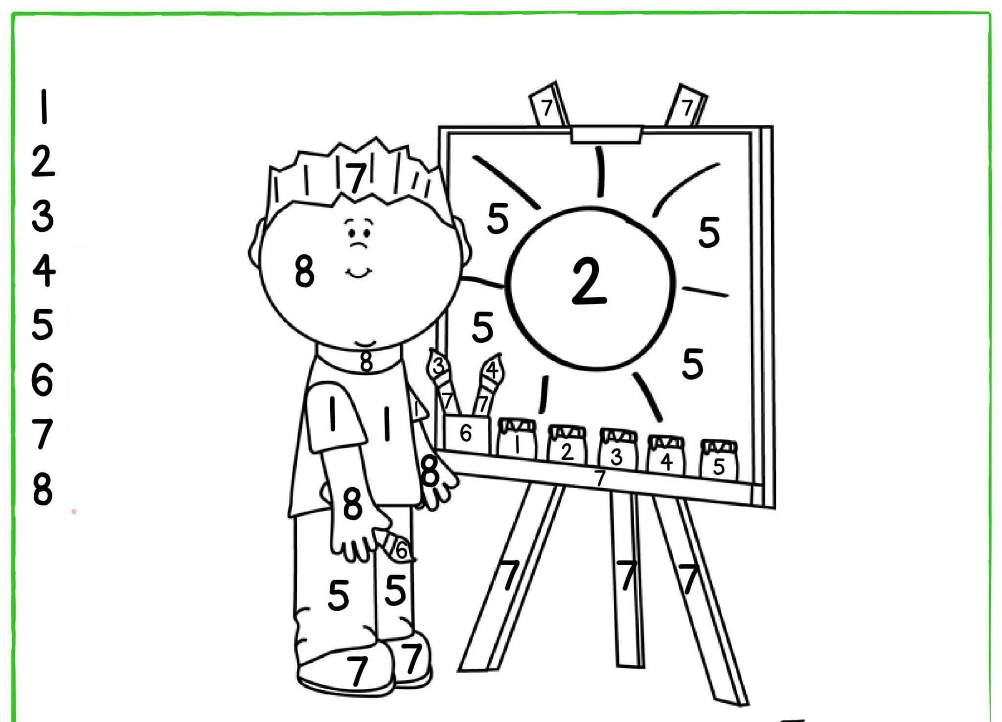Okul öncesi Renk Kavramı Boyama üst Ev Boyama Sayfası