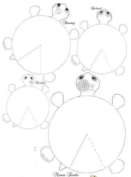 üç Boyutlu Kaplumbağa Kalıbı Okul öncesi Etkinlik Faliyetleri