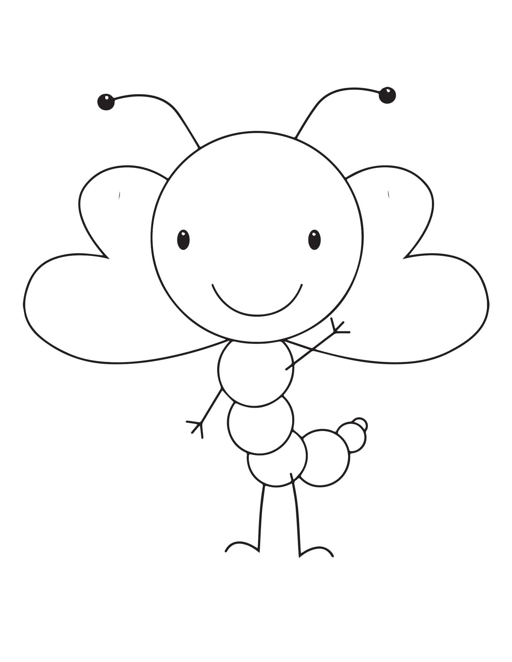 Sevimli Kelebek Boyama Sayfalari 2 Okul öncesi Etkinlik