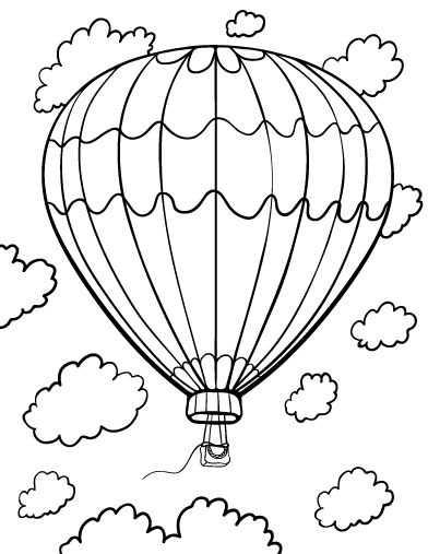Ucan Balon Boyama Sayfasi 24 Okul Oncesi Etkinlik Faliyetleri