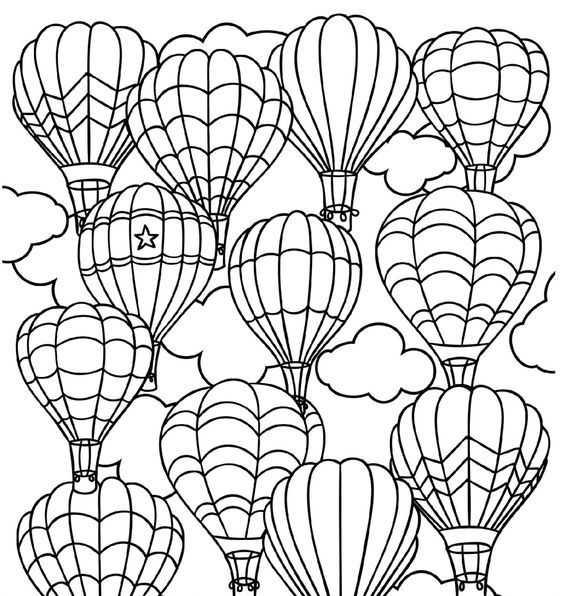 Ucan Balon Boyama Sayfasi 6 Okul öncesi Etkinlik Faliyetleri