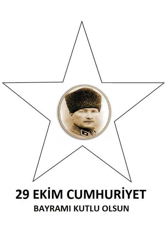 Cumhuriyet Bayramı Boyama Sayfası Okul öncesi Etkinlik Faliyetleri