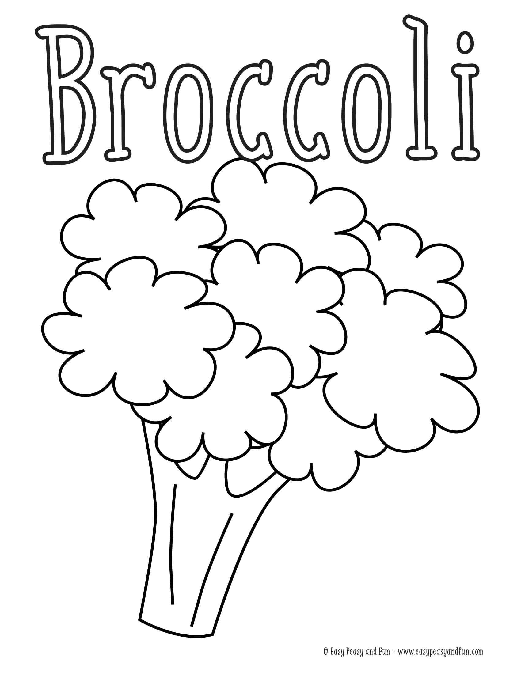Okul Oncesi Brokoli Boyama Sayfasi Okul öncesi Etkinlik